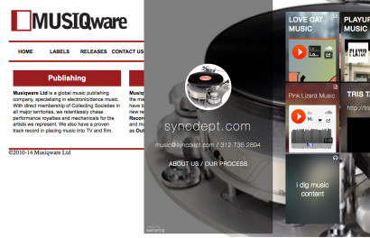 MUSIQware/The Sync Dept homepages
