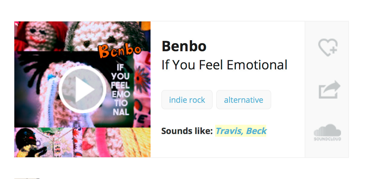 Indie Shuffle Premiere: Benbo 'If You Feel Emotional'