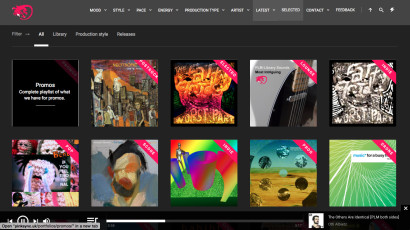 PinkSync – front page